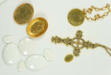 Gold Tone 5 Piece Porcelain Jewelry: Ready To Assemble and Paint 3952