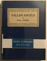 "NOEL COWARD 1925 signed copy of ""FALLEN ANGELS"" just dropped price $100***"