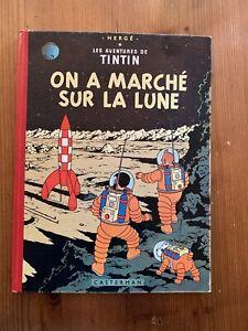 tintin on a marché sur la lune 1954 TTBE