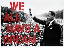 MR BRAINWASH WE ALL HAVE A DREAM RED MLK PRINT Martin Luther King obey giant