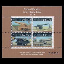 "Malta 2010 - Guns ""Malta-Gibraltar Joint Issue"" War Military - Sc 1400 MNH"