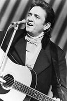 Johnny Cash B&W on TV Show 11x17 Mini Poster