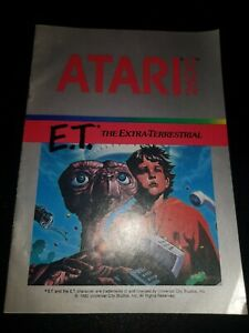 E.T. the extra terrestrial ATARI 2600 INSTRUCTIONS for cartridge