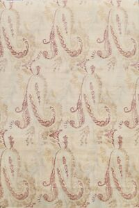 All-Over Paisley Floral Agra Oriental Hand-knotted Area Rug Wool Home Decor 8x10