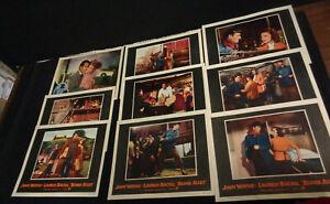 JOHN WAYNE HUGE LOT OF 9 LOBBY CARDS VINTAGE LADY FROM LOUISIANA  BLOOD ALLEY