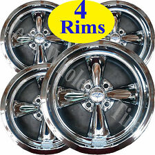 FOUR 14X7 4/4 Cragar Golf Cart Rims Wheels Chrome Aluminum series 410C S/S