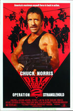 DELTA FORCE 2 MOVIE POSTER RARE Original SS 27x41 RARE Rolled CHUCK NORRIS 1990