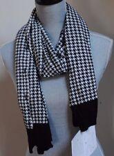 women 100% Bamboo Scene Weaver Papillon MULTI wear scarf Black White Houndstooth