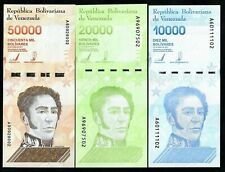 VENEZUELA - 10000, 20000 & 50000 SET - PICK NEW - 2019 - GEM UNC LARGE A VARIETY
