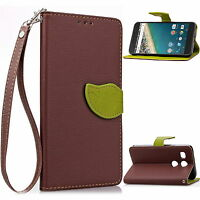 For Google LG Nexus 5X Leather Case Wallet Flip Stand Card Slot Cover Bag