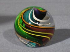 Marbles: Hand Made Art Glass Alloway Dichroic Multi-Color #2967     1.14inch