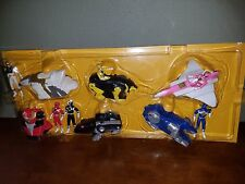 Mighty Morphin Power Rangers 90's Mcdonalds Toy Display Full Set of Zords