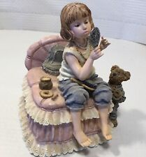 Boyds Bears Yestedays Child Music Box Put On A Happy Face Playing Dress Up 1E