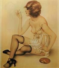"""Vintage Alberto Vargas Original """"humo Dreams"""" Art Nouveau impresión de placa de libro"""