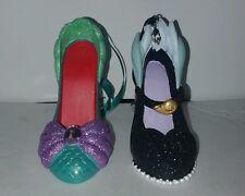 Disney The Little Mermaid Ariel Ursula Shoe Ornaments Set Of 2
