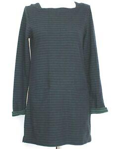 SEASALT Cornwall Tunic Dark Green Gentle Wave Pockets Striped Short Dress 10