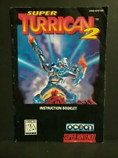 Super Turrican 2 (Super Nintendo Entertainment System, 1993) SNES Manual Only