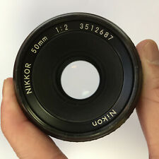 Nikon NIKKOR AI 50mm f/2 1:2 Manual Focus Lens for F Mount