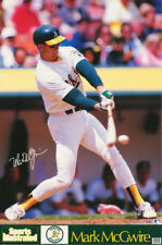 LOT OF 2 POSTERS :MLB BASEBALL:  MARK McGWIRE - OAKLAND A'S   #7511    RW15 Q