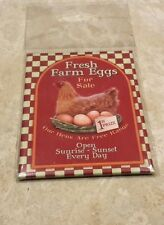 Souvenir metal fridge magnet Fresh Farm Eggs for Sale Bn