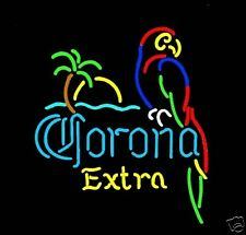 CORONA EXTRA Neon Sign w/Parrot, Flat Flexible Refrigerator Magnet,READ LISTING!