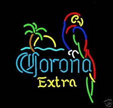 CORONA EXTRA Neon Sign w/Parrot, BEER, Flat Flexible Refrigerator Magnet
