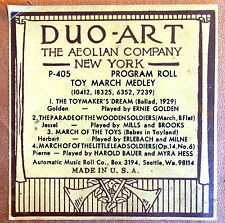 DUO-ART (ReCut) TOY MARCH MEDLEY PROGRAM P-405 4-Selection Player Piano Roll
