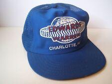 Edwards Warren Charlotte NC Hat Vintage Blue Snapback Trucker Cap Made USA