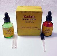 KODAK TESTING OUTFIT, BOXED | Bottles 50% Full | test tube | Eye dropper | $45