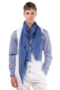RRP €410 TOM FORD Linen Shawl Wrap Scarf Large Frayed Edges Made in Italy