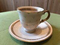 Vintage Arabia Finland Gold & Cream Porcelain Demi Cabinet Cup & Saucer