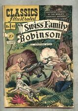 Classics Illustrated #42-1947 gd 1st edition Wyss Swiss Family Robinson