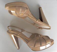 WALTER STEIGER designer high heel leather-suede sandals size 40.5 EU