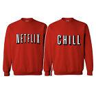 Netflix and Chill Couple Matching Sweatshirt Binge TV Shows Movies night crew