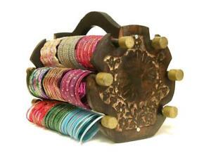 Handmade Bangle Display Indian Jewelry Bracelet Holder Wood Rack Wooden Stand