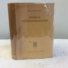 BEITRAGE ZUR STAATSSOZIOLOGIE- By Karl Loewenstein- 1961 German