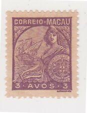 (K158-16) 1934 Macau 3 AVOS mauve Portugal & GALEASSE (P)