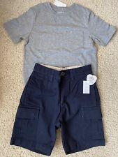 GAP KIDS Boys Blue SCORPION Brown PLAID CHECK Solid Red Black SHORTS 6-7 8-10