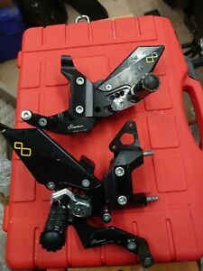 Ducati 959 Panigale V2 Lightech Rearsets Racing footrest spare gearlever toe peg