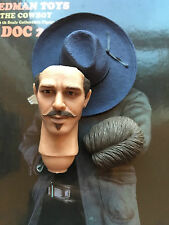 "REDMAN Doc Holliday Ver 2 Tombstone 12"" Head Sculpt & Hat loose 1/6th scale"