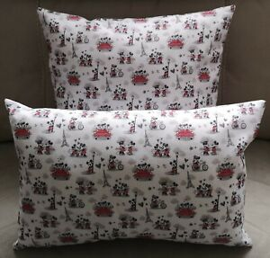 Disney's Mickey and Minnie In Paris (white) Cushion - 2 sizes available