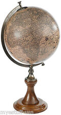 Authentic Models GL003D Hondius 1627 Tabletop Globe with Classic Stand