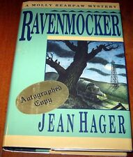 RAVENMOCKER by Jean Hagar ~ Signed 1st Print HCDJ ~ Cherokee Tahlequah Oklahoma