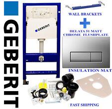 Geberit DuoFix  wall hung toilet frame  WC 1.12M matt chrome plate + brackets