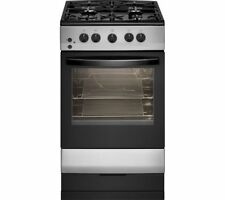 ESSENTIALS CFSGSV17 50 cm Dual Fuel Cooker - Silver & Black