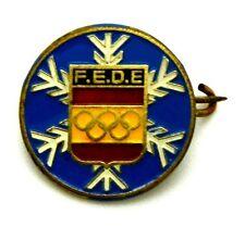 Spilla F.E.D.E. Federacion Española De Esquì (Sci-Montagna) Diametro cm 1,5