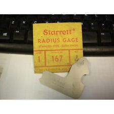 Starrett 167 516 Radius Gage