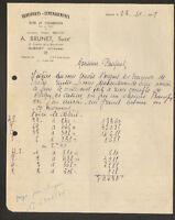"""GUERET (23) TRANSPORT DEMENAGEMENT , BOIS & CHARBON """"A. BRUNET Succ."""" en 1949"""