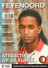 FEYENOORD MAGAZINE 2010 nr. 03 - JERSON CABRAL/STEFAN DE VRIJ/ED DE GOEY/JALIENS