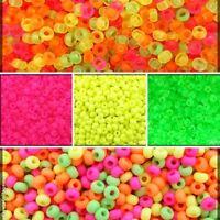 CHOOSE COLOR! 20g 8/0 (2.9mm) NEON (UV-Active) Seed Beads Preciosa Czech Glass